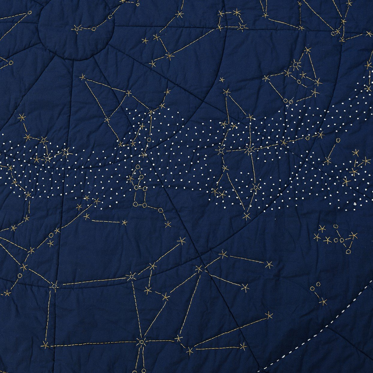 Organic Constellation Quilt - Navy Celestial