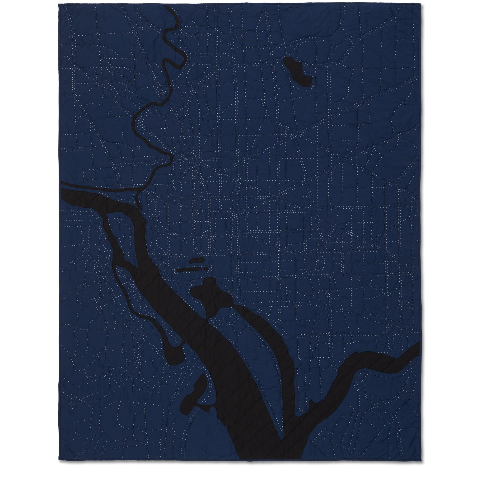 Washington Dc Throw / Navy City Quilts