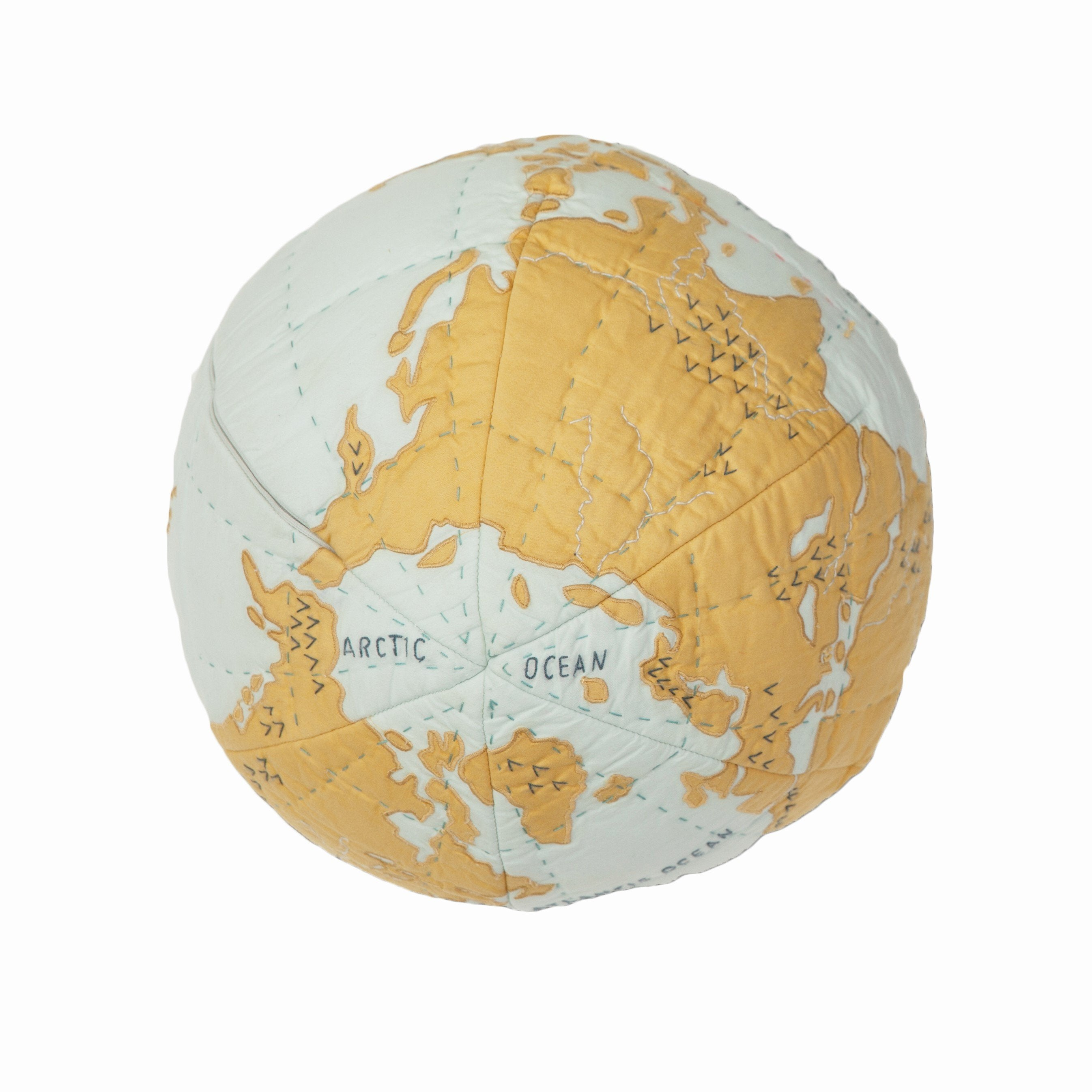 Pillow Globe - Blue/gold
