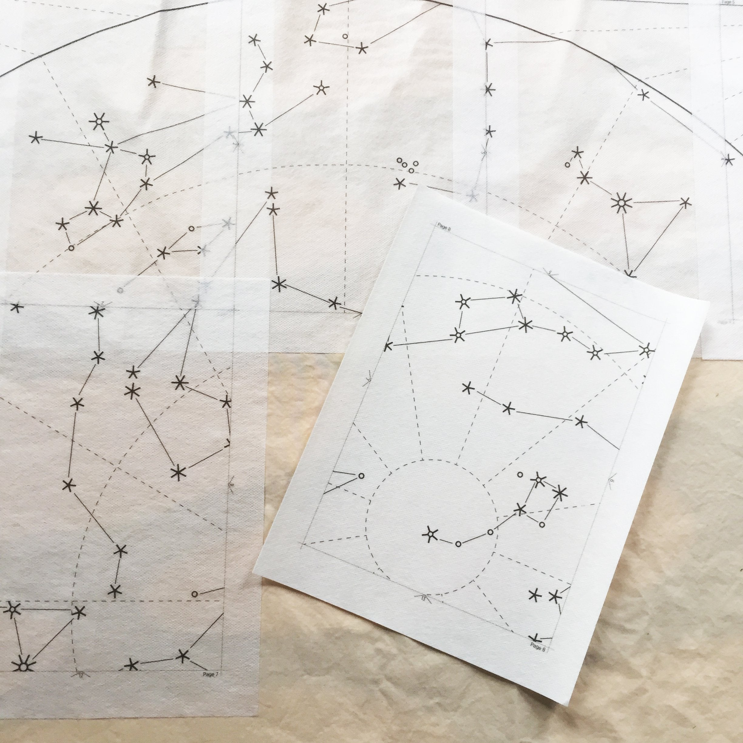 Print-At-Home Diy Quilt - Constellation Kits