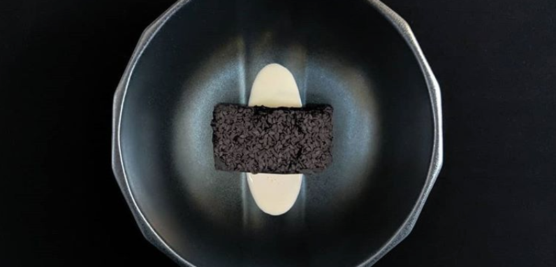 Elevate Your Box Mix - Black Sesame Brownie