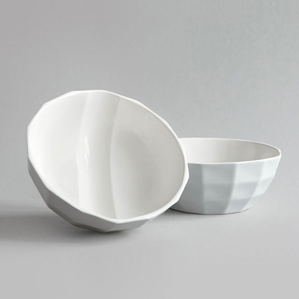 Dual Sky Grey & White Channel Bowl + Pairing Spoon
