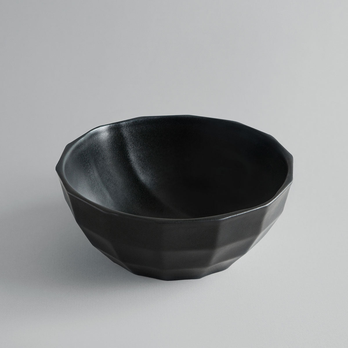 Solid Black Channel Bowl + Pairing Spoon