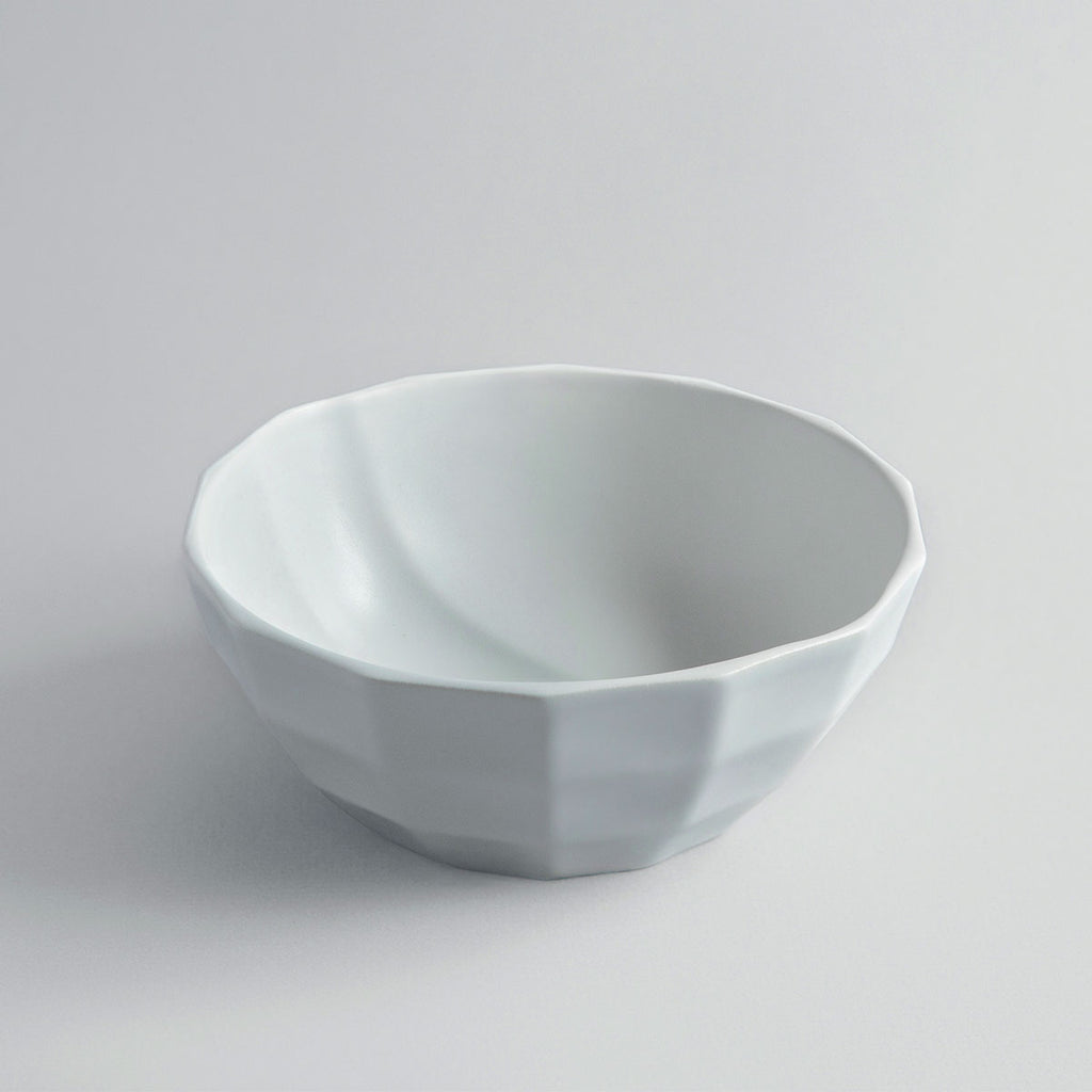 Solid Sky Grey Channel Bowl + Pairing Spoon