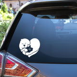 Dog and Cat Heart Vinyl Decal for Pet Lovers