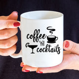 Coffee Until Cocktails Vinyl Decal