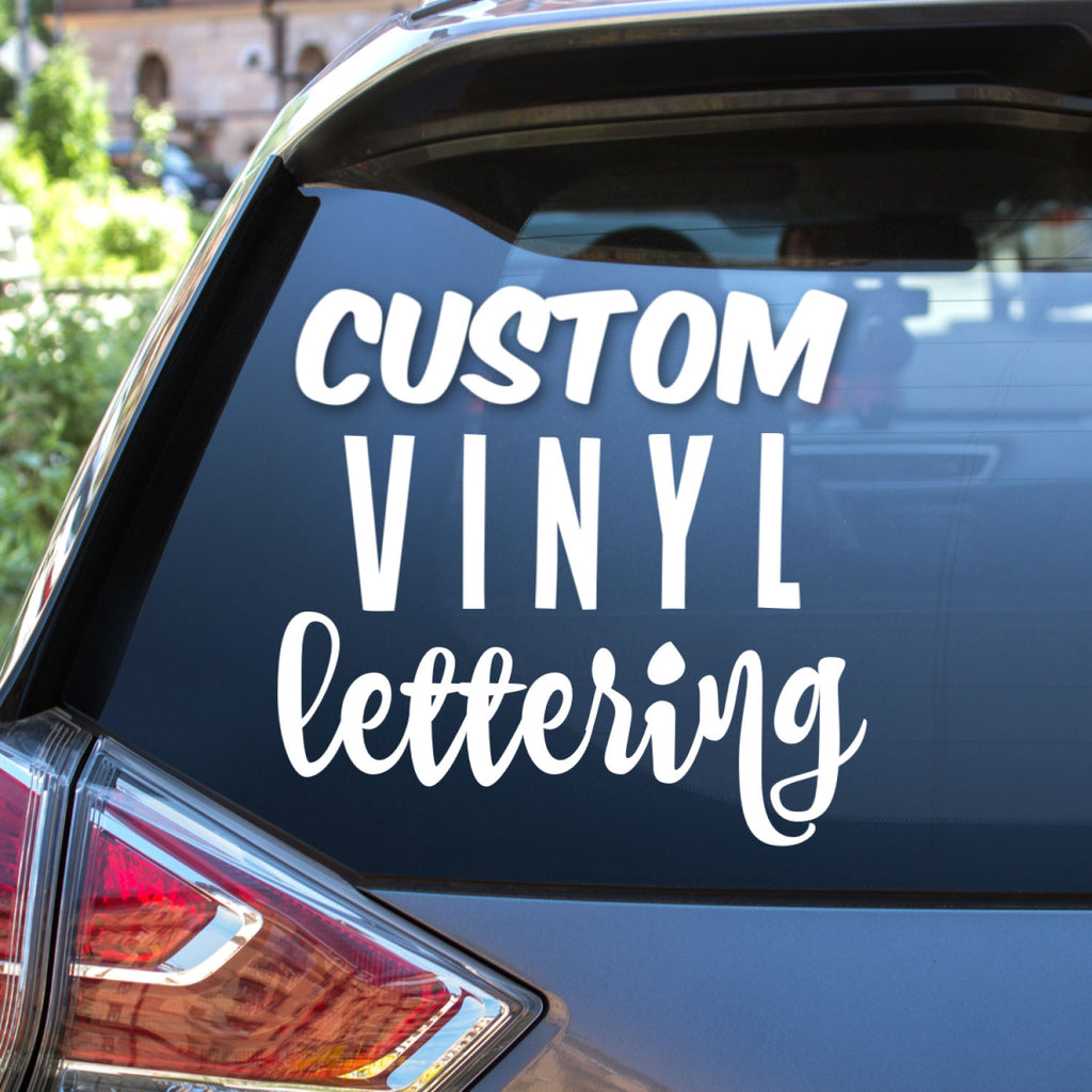 Vinyl lettering decal names words or quotes