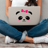 Cute Animal Face Vinyl Decals - Pig, Cow, Penguin, Panda, or Sloth