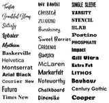 Vinyl Lettering Decal - Names, Words, or Quotes