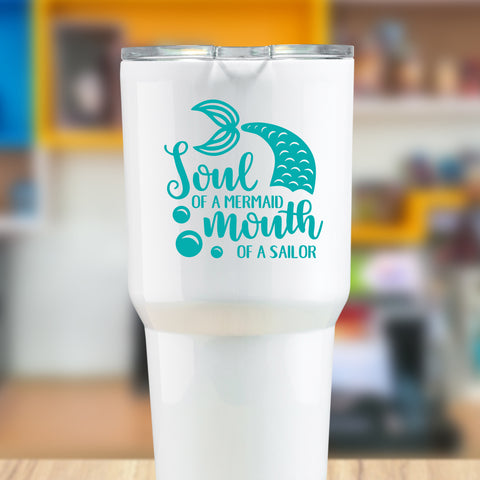 Soul of a Mermaid Mouth of a Sailor Vinyl Decal