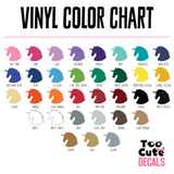 Too Cute Decals Color Options