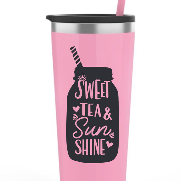 Sweet Tea and Sunshine Vinyl Decal