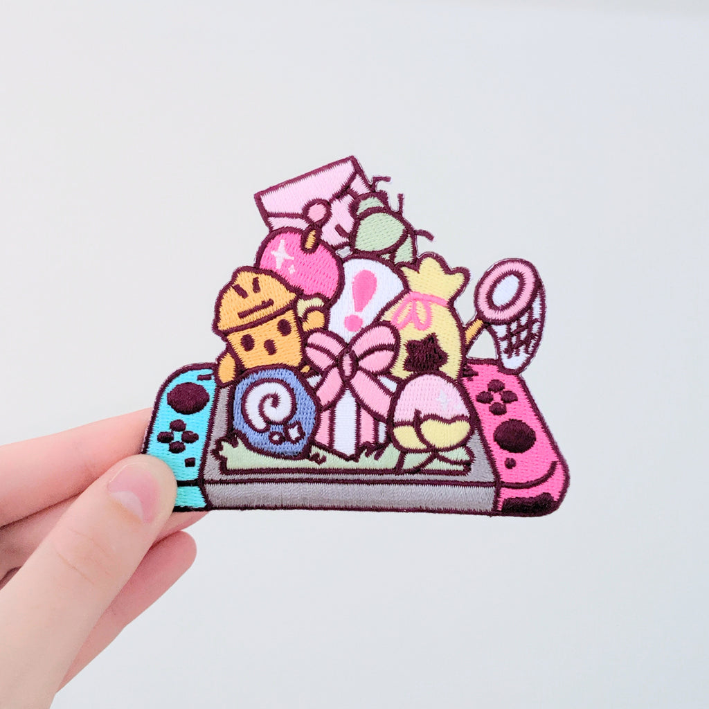 90mm Cutie Crossing Switch Embroidered Patch