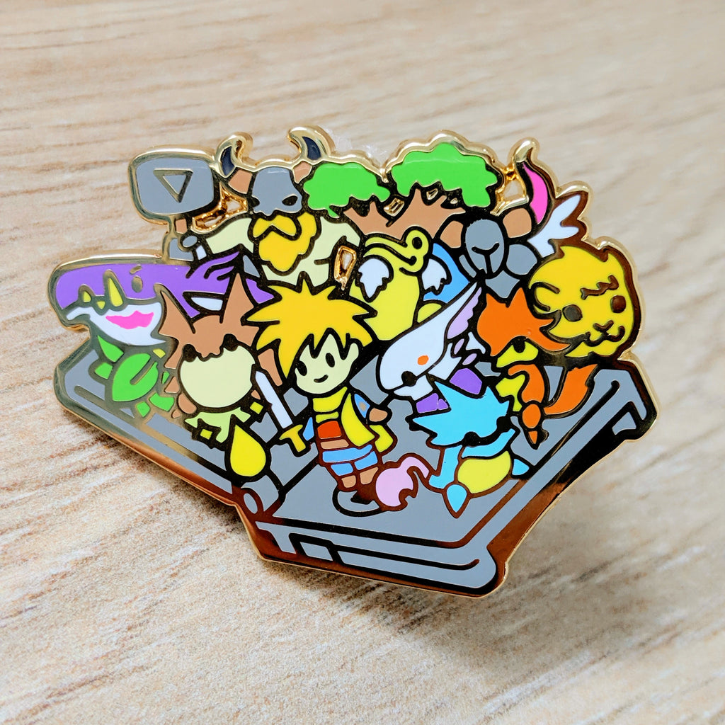 Golden Sun GBA SP Enamel Pin