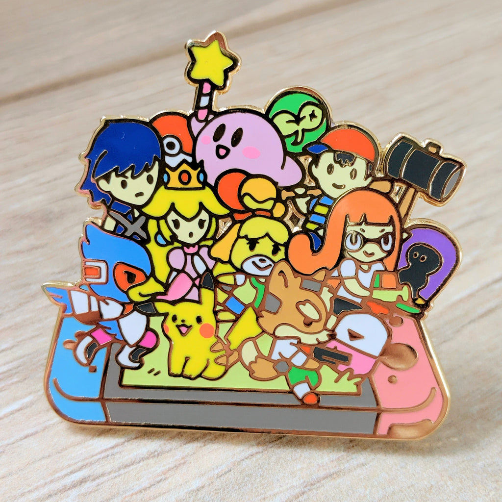 Super Smash Bros Ultimate Switch Enamel Pin