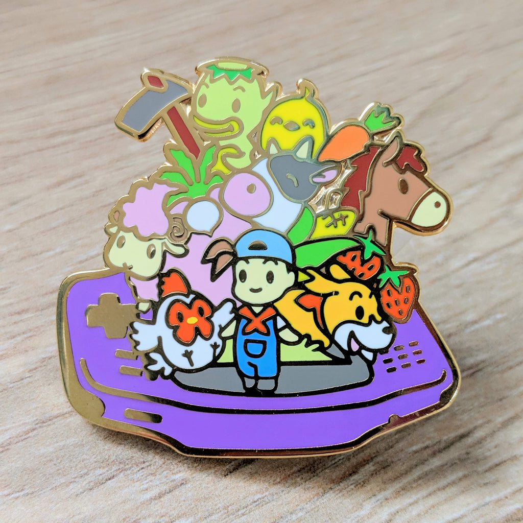 Harvest Moon Boy GBA Enamel Pin