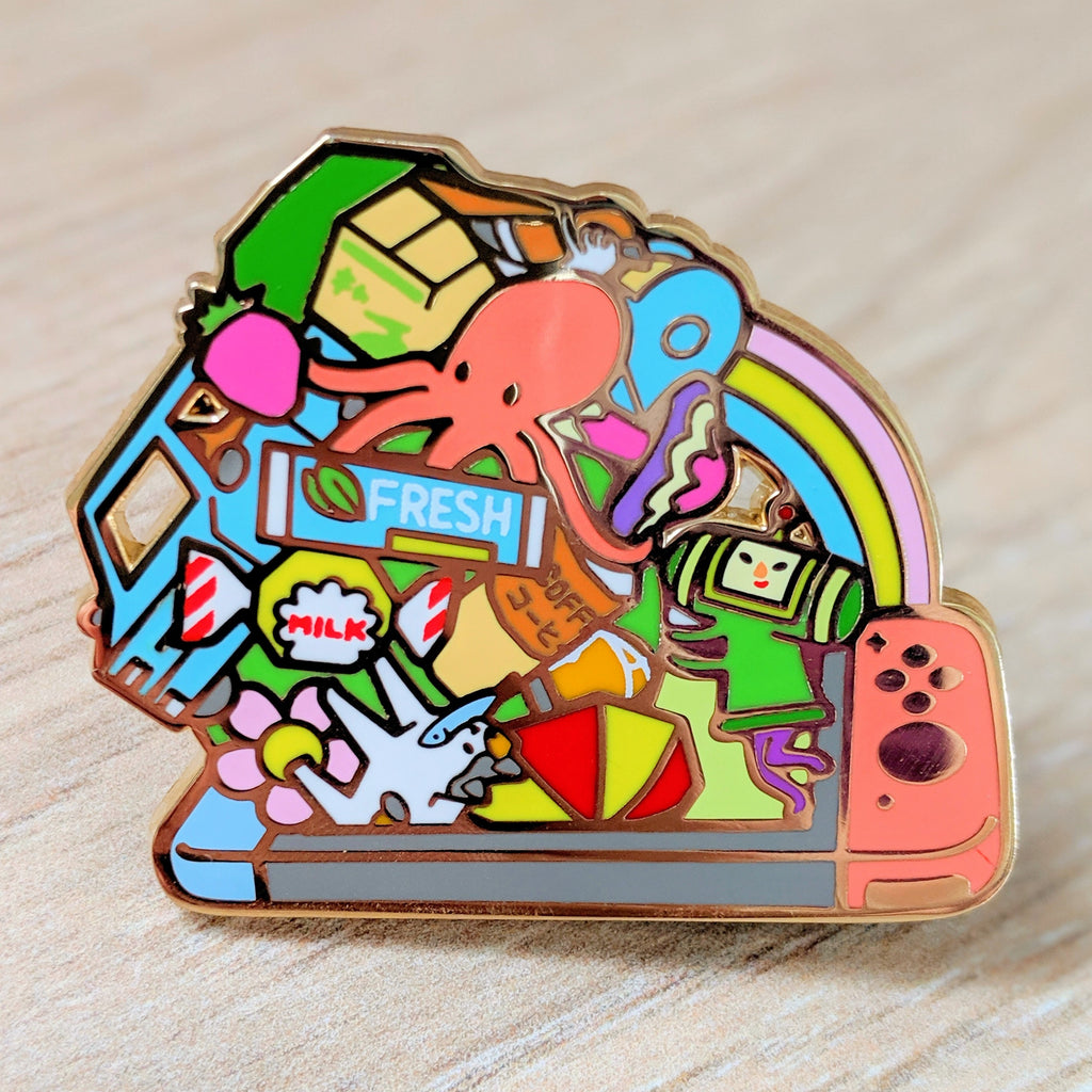 Katamari Damacy REROLL Switch Enamel Pin
