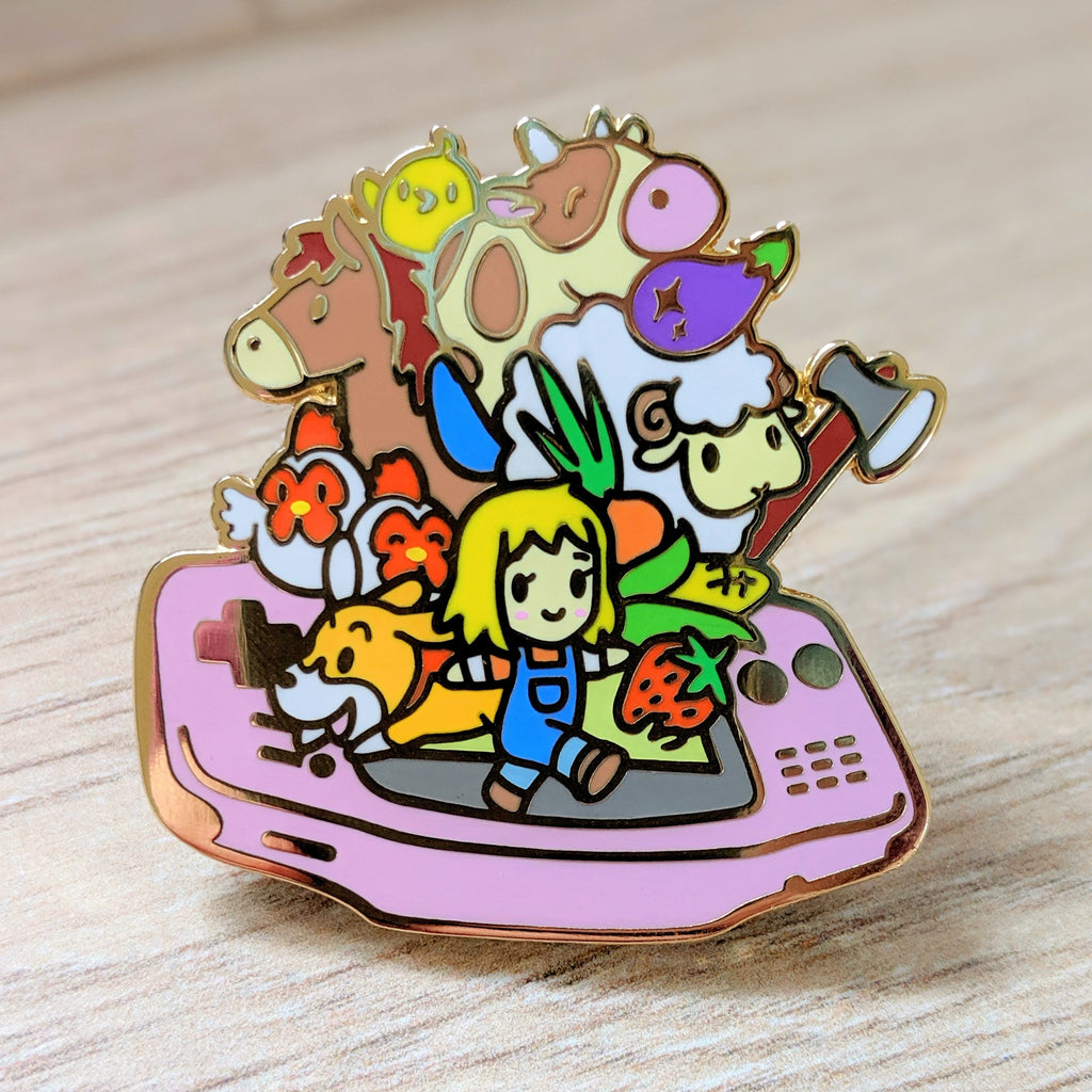 Harvest Moon Girl GBA Enamel Pin