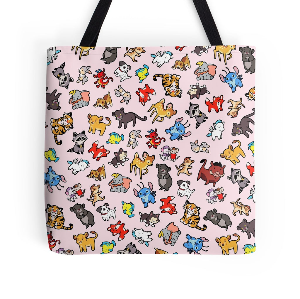 Animals of Disney Tote Bag