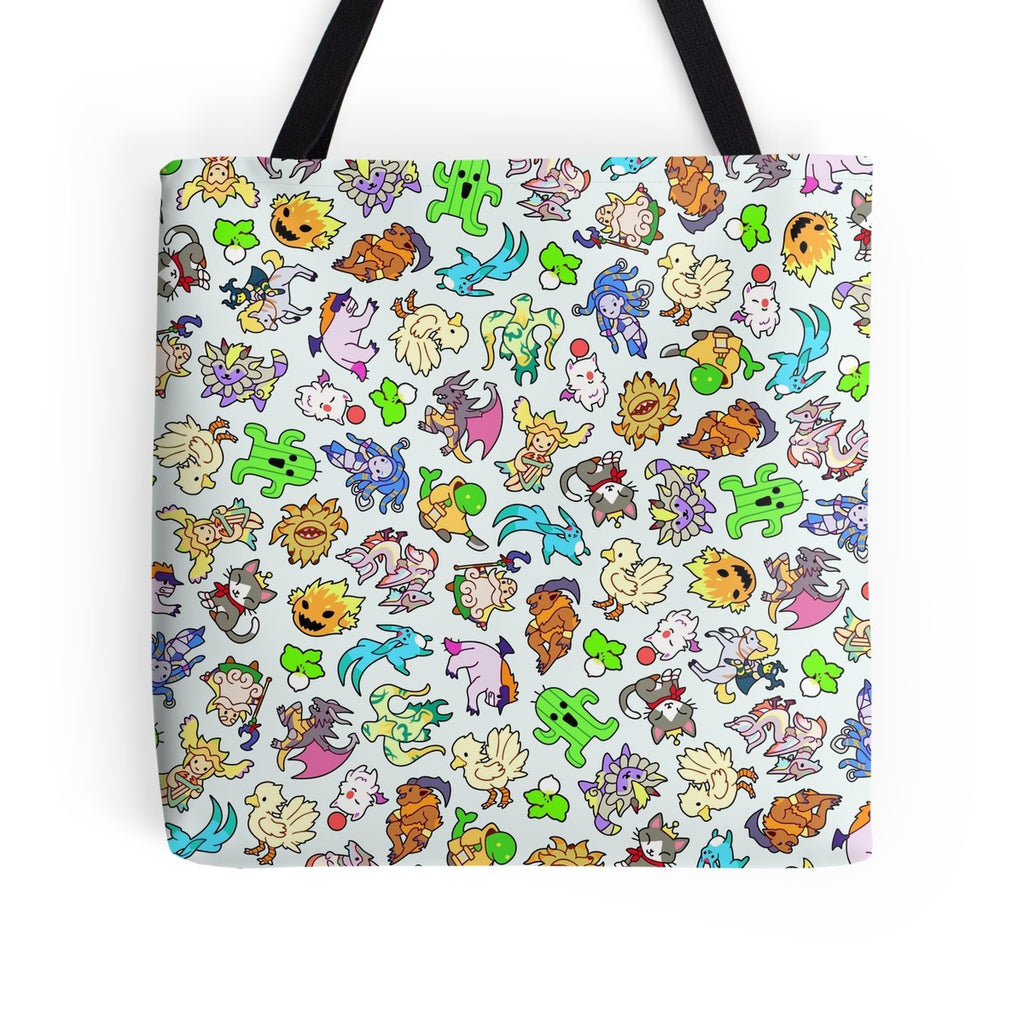 Final Fantasy Monsters & Summons Tote Bag