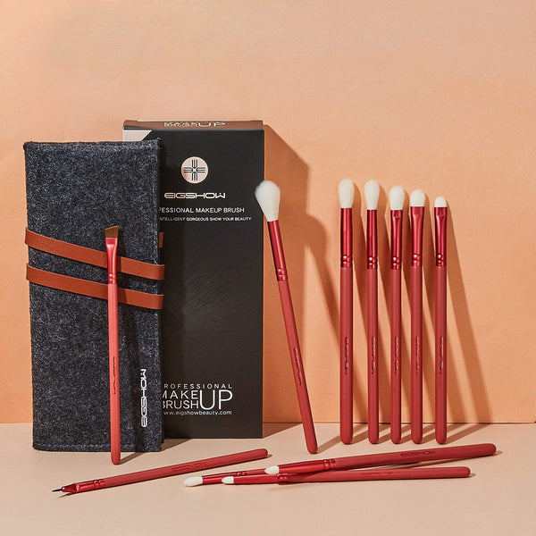 JADE SERIES - 11 PCS EYE BRUSH KIT - AGATE RED - EIGSHOW Beauty