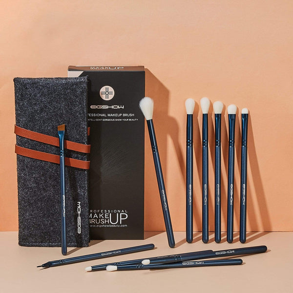 Eigshow Beauty JADE SERIES - 11 PCS EYE BRUSH KIT - TOURMALINE BLUE (4478014914629)