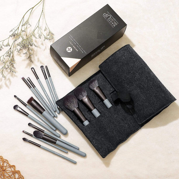 JADE SERIES - 15 PCS MAKEUP BRUSH KIT - AGATE GREY - EIGSHOW Beauty