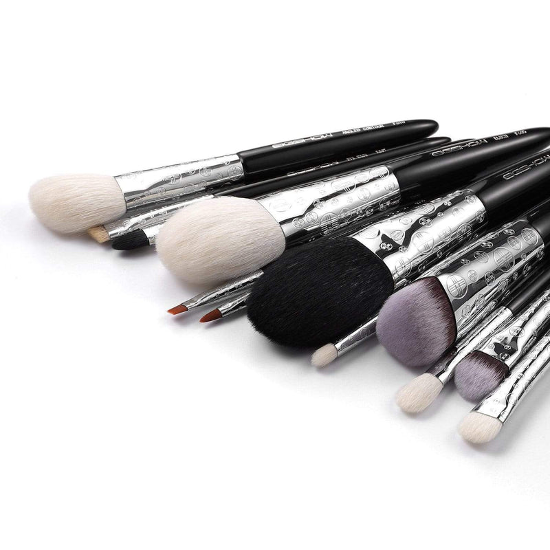 EIGSHOW Beauty LUXE SERIES 12 PCS CLASSIC MAKEUP BRUSH KIT - BRIGHT SILVER (4357644288069)