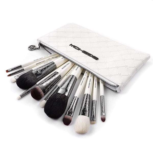 LUXE SERIES 12 PCS CLASSIC MAKEUP BRUSH KIT - LIGHT GUN BLACK - EIGSHOW Beauty