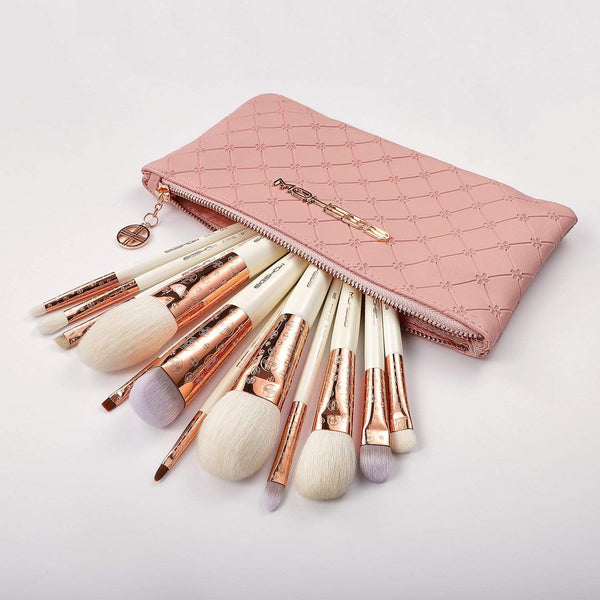 EIGSHOW Beauty LUXE SERIES 12 PCS CLASSIC MAKEUP BRUSH KIT - ROSE GOLD (4357642584133)