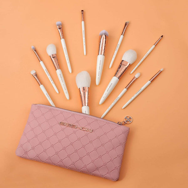 EIGSHOW Beauty LUXE SERIES 12 PCS CLASSIC MAKEUP BRUSH KIT - ROSE GOLD
