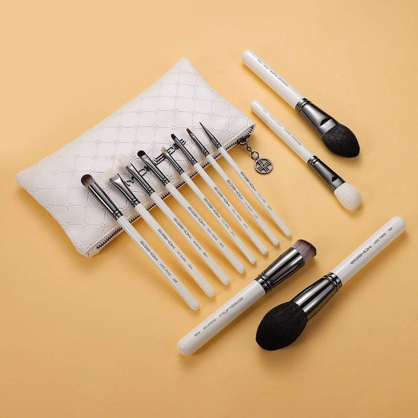 Eigshow Beauty MASTER SERIES - 12 PCS CLASSIC BRUSH KIT -  LIGHT GUN BLACK (1845199142981)
