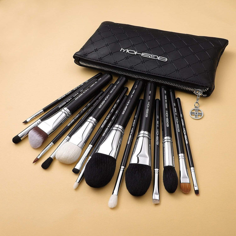 Eigshow Beauty MASTER SERIES - 15 PCS CLASSIC BRUSH KIT - BRIGHT SILVER