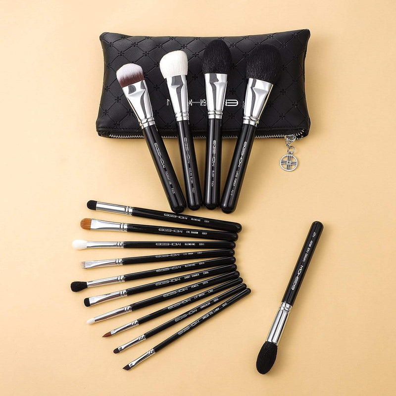 Eigshow Beauty MASTER SERIES - 15 PCS CLASSIC BRUSH KIT - BRIGHT SILVER (1845289910341)