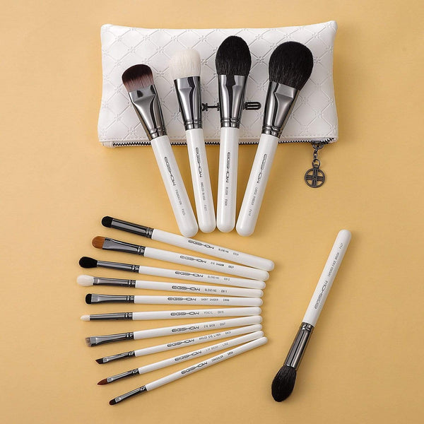 Eigshow Beauty MASTER SERIES - 15 PCS CLASSIC BRUSH KIT -  LIGHT GUN BLACK (1845240102981)