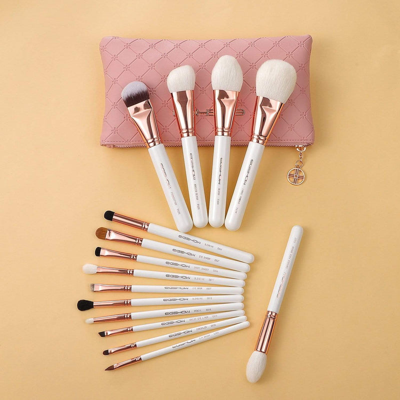 Eigshow Beauty MASTER SERIES - 15 PCS CLASSIC BRUSH KIT - ROSE GOLD (1845249540165)