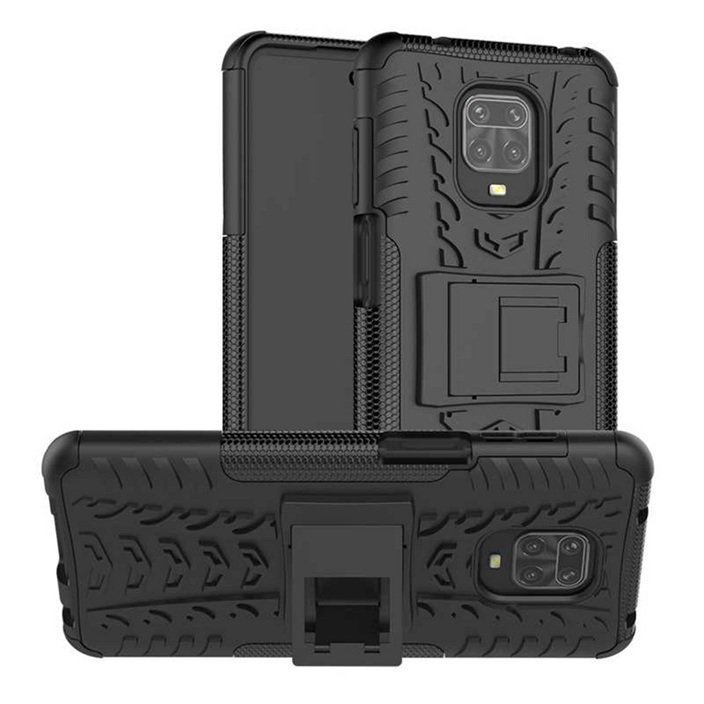Xiaomi Redmi note 9 Pro Shockproof Armor Defender Phone Case with Table Stand