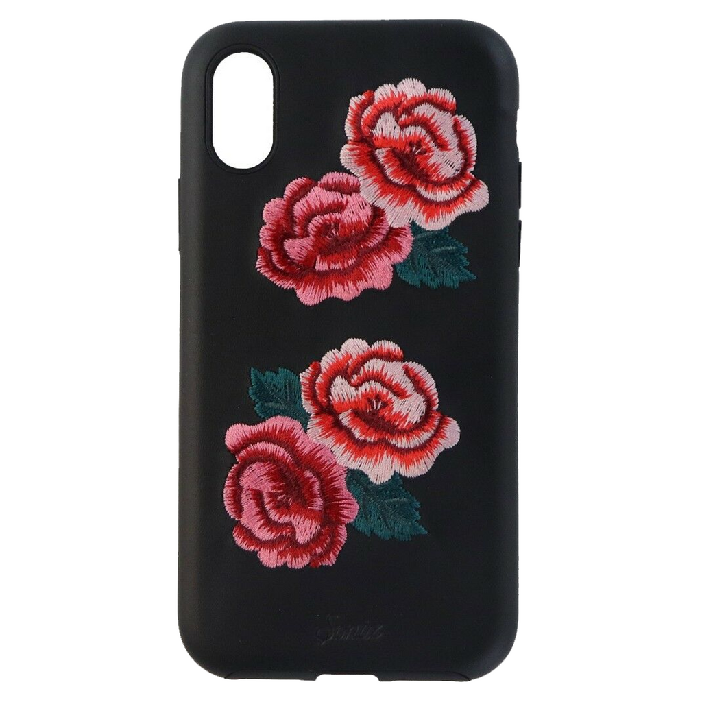 Apple iPhone X / Xs Sonix Leather Series Protective Case - Black / Red Roses