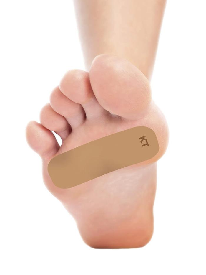 kt tape foot toe blister prevention tape