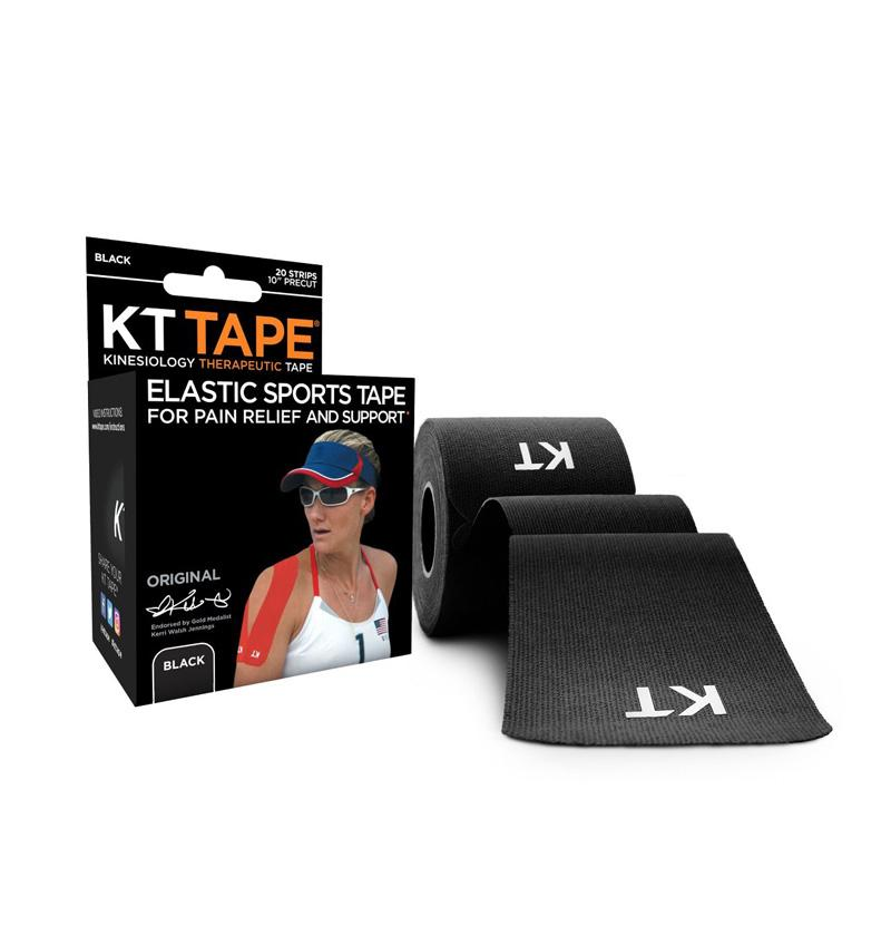 KT Tape Original Precut Kinesiology Tape Black