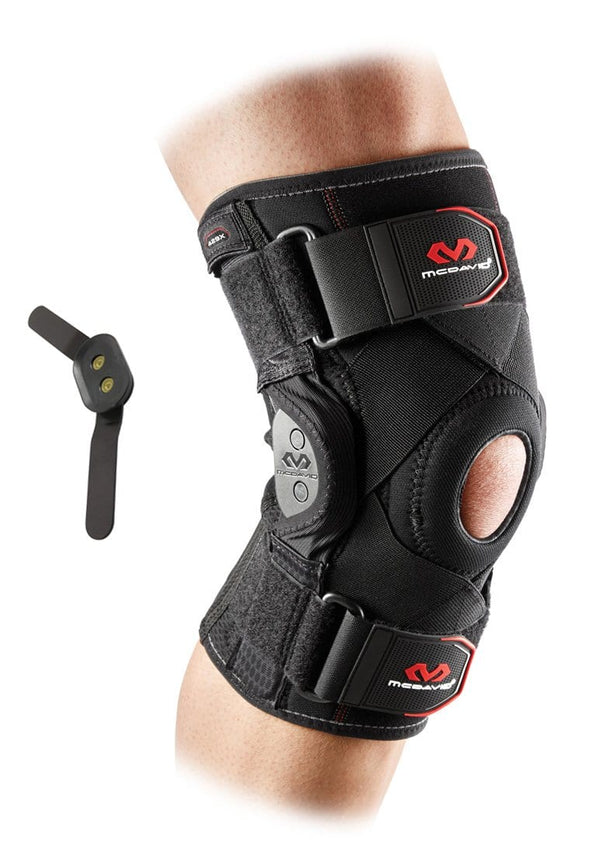 mcdavid knee brace polycentric hinges cross straps 429X