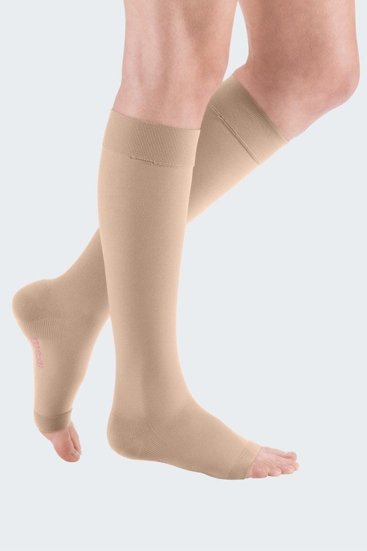 mediven plus medical compression stockings beige open toe