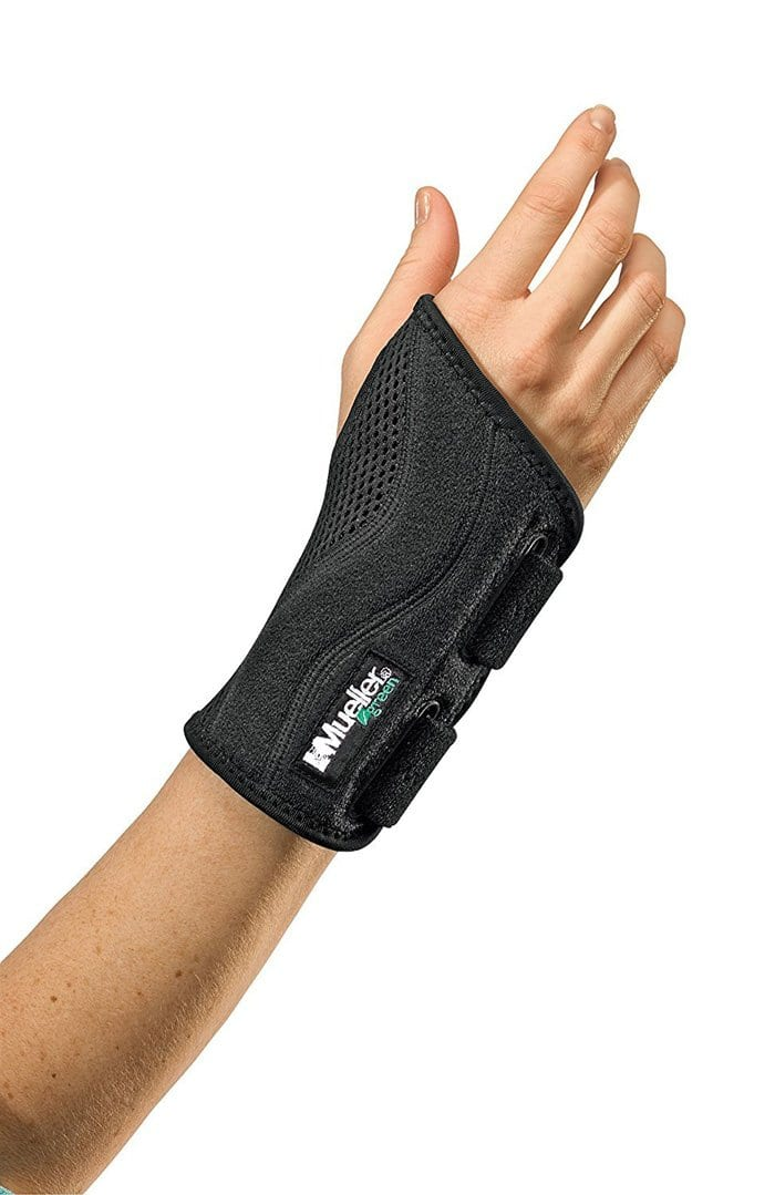 mueller green fitted wrist support