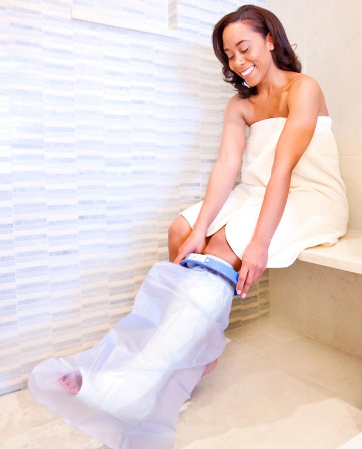 seal tight waterproof shower short leg cast cover 20103