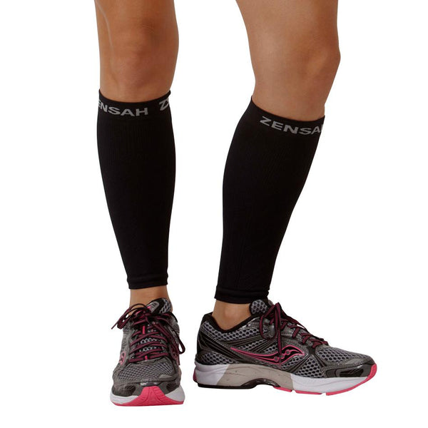 Zensah Black Compression Leg Sleeves 6055