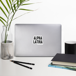 Alpha Latina Sticker - Luz Collective Shop