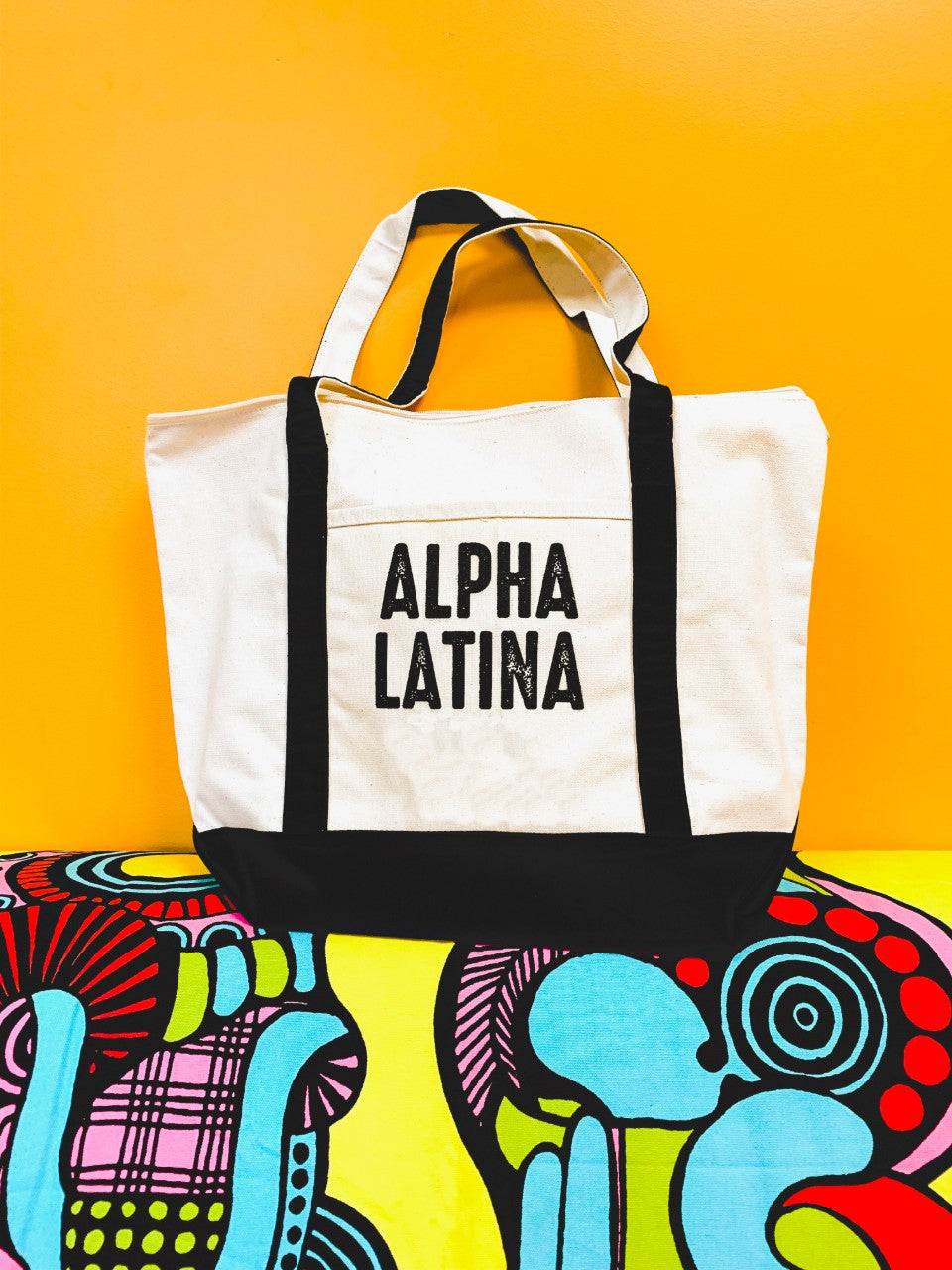 Alpha Latina women's empowerment Tote Bag by Luz Collective Shop