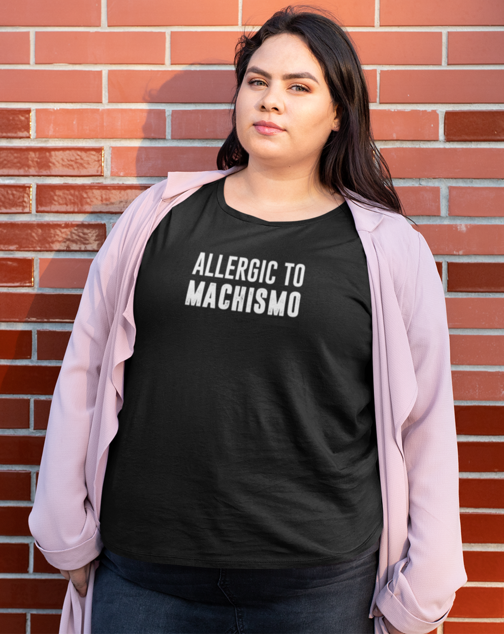 Allergic to Machismo Black Short-Sleeve Tee