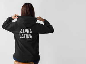 Alpha Latina Unisex Ultra Soft Zip Hoodie - Luz Collective Shop