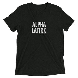 Alpha Latinx Ultra Soft Charcoal Black Short Sleeve Latin Empowerment Tee Extra Large